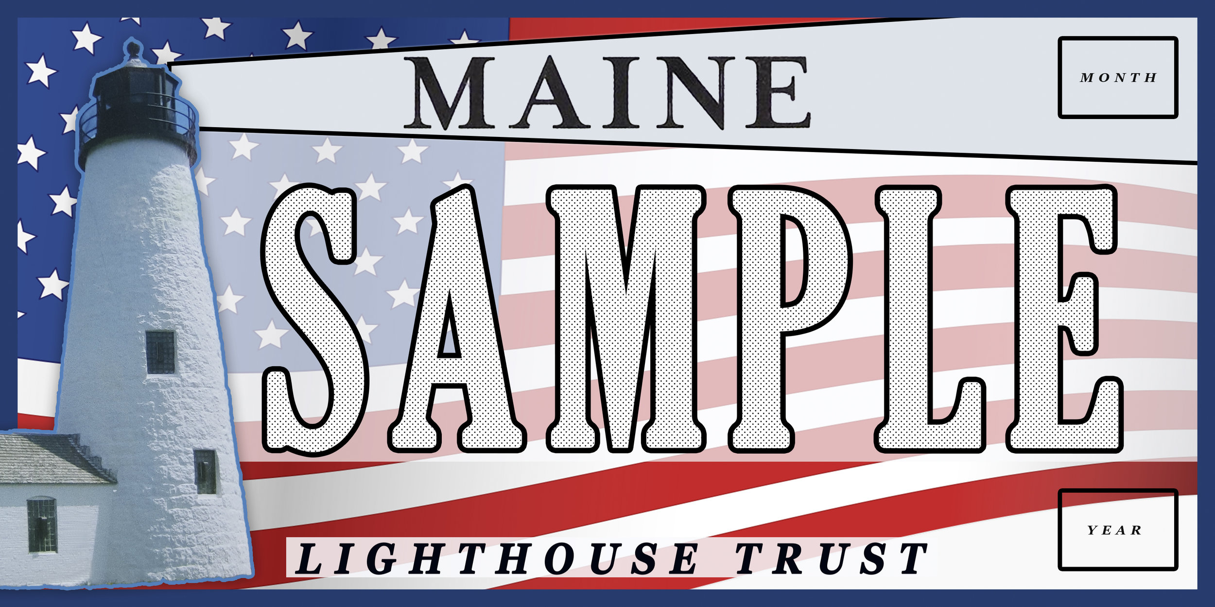Maine Lighthouse Trust Plate