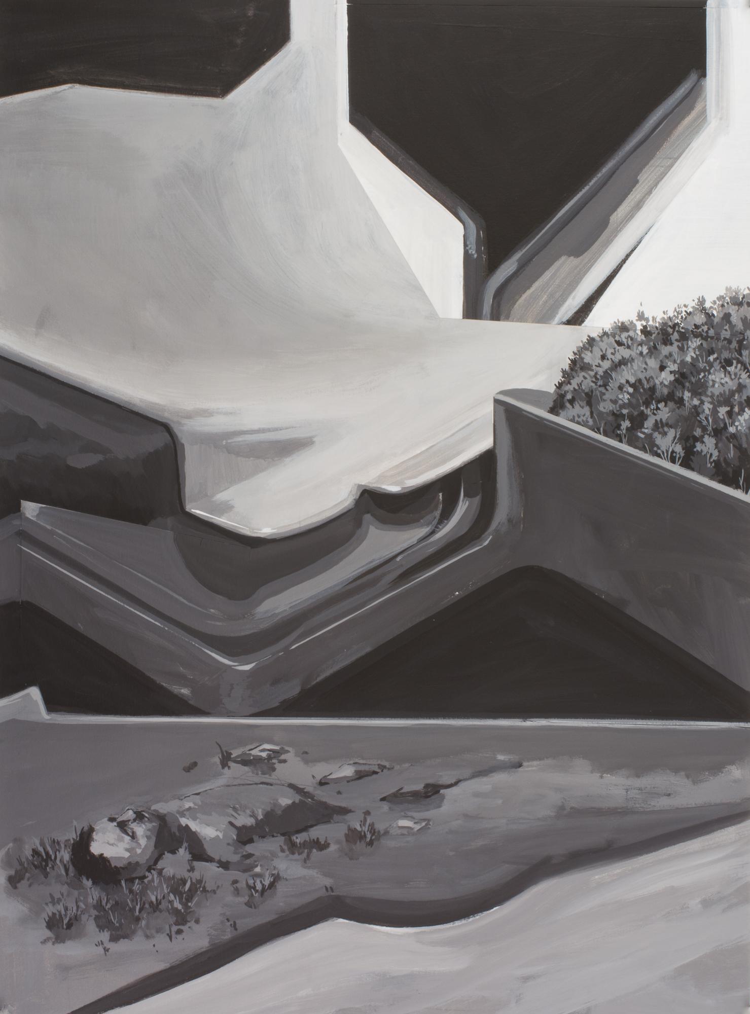 Untitled (Man, half buried in split Composition)