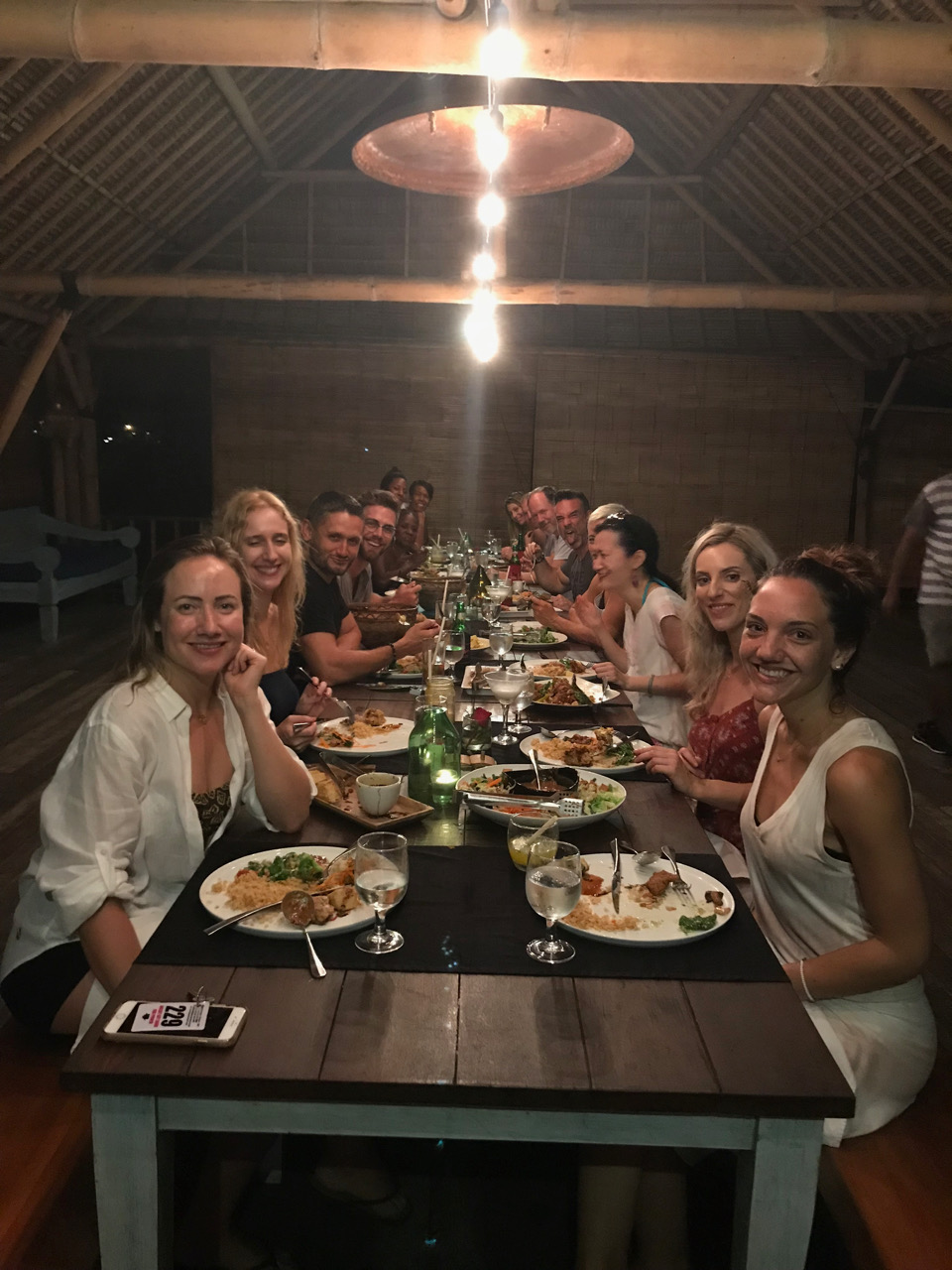 Welcome dinner on the beach
