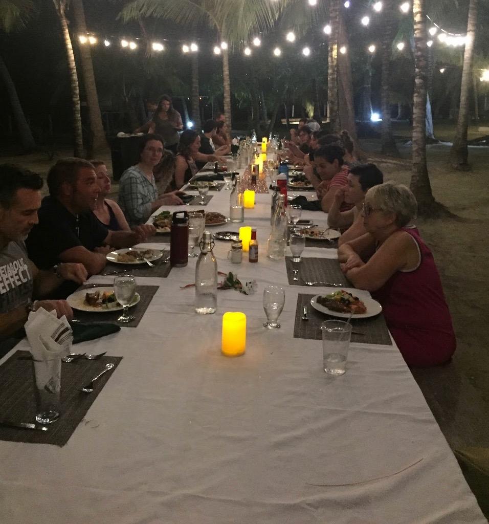 Enjoy dinner under the stars every night!