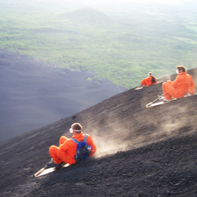 Ever heard of Volcano Boarding!?
