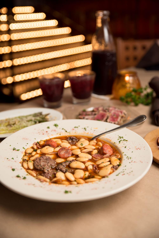 Fabada Asturiana - White bean soup w/ chorizo, blood sausage, & Serrano ham