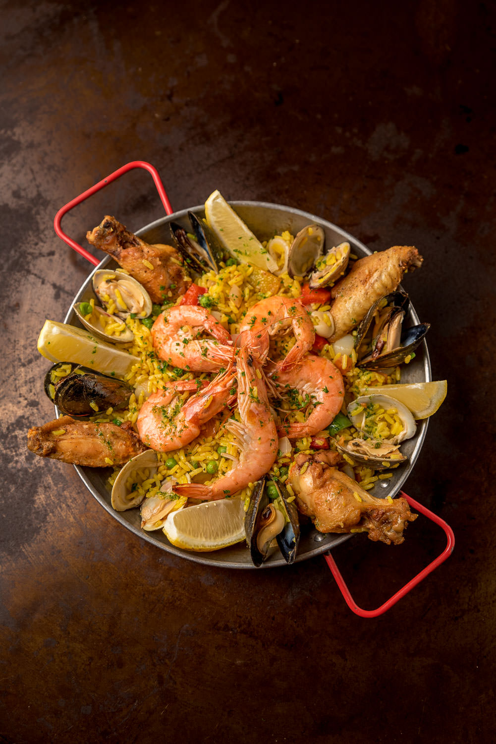 Paella mixta - Classic mixed seafood, chicken, and pork paella