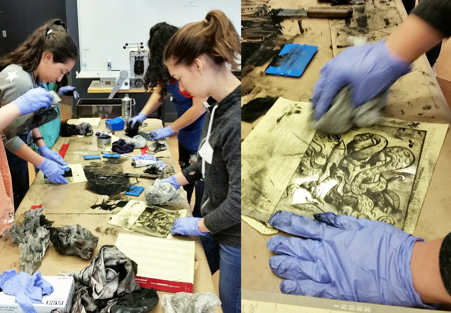 - Drypoint workshop at the Kenosha Public Museum, taught by David Jones.