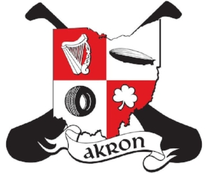 Official Crest of the Akron Celtic Guards Hurling Club (GAA) - The Akron Celtic Guards' crest is laden with symbols that represent Ireland, the Irish, Hurling, the City of Akron, and the state of Ohio.