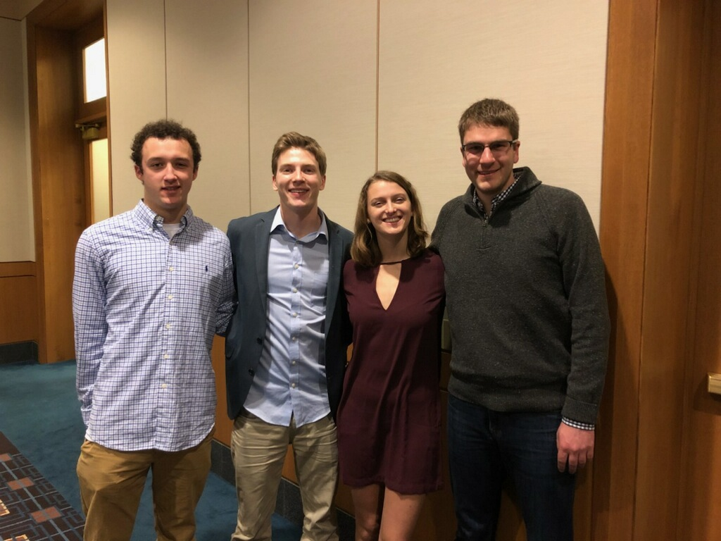 Connor, Austin, Amy, and Brian at MCSA Midwinters