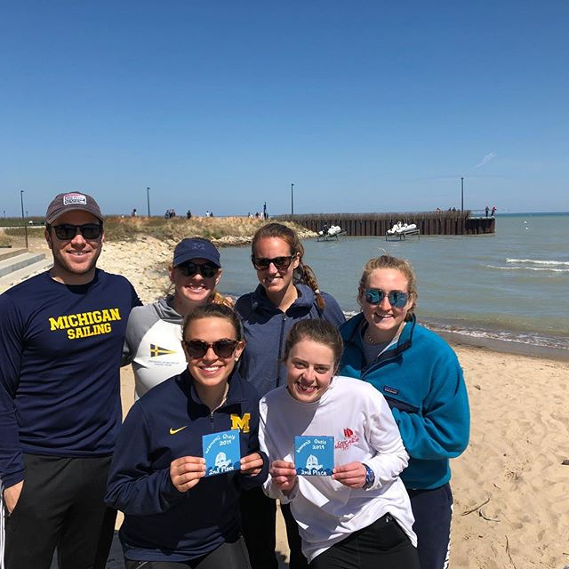 Michigan sailors qualify for Women's Nationals!! Our sailors placed second at the qualifying event held at Northwestern University this weekend.