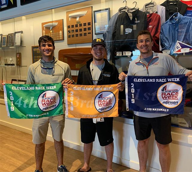 Congratulations to three of our Michigan sailors Graham, Max, and Jake for finishing 1st, 3rd, and 4th and the J120 Nationals this weekend!