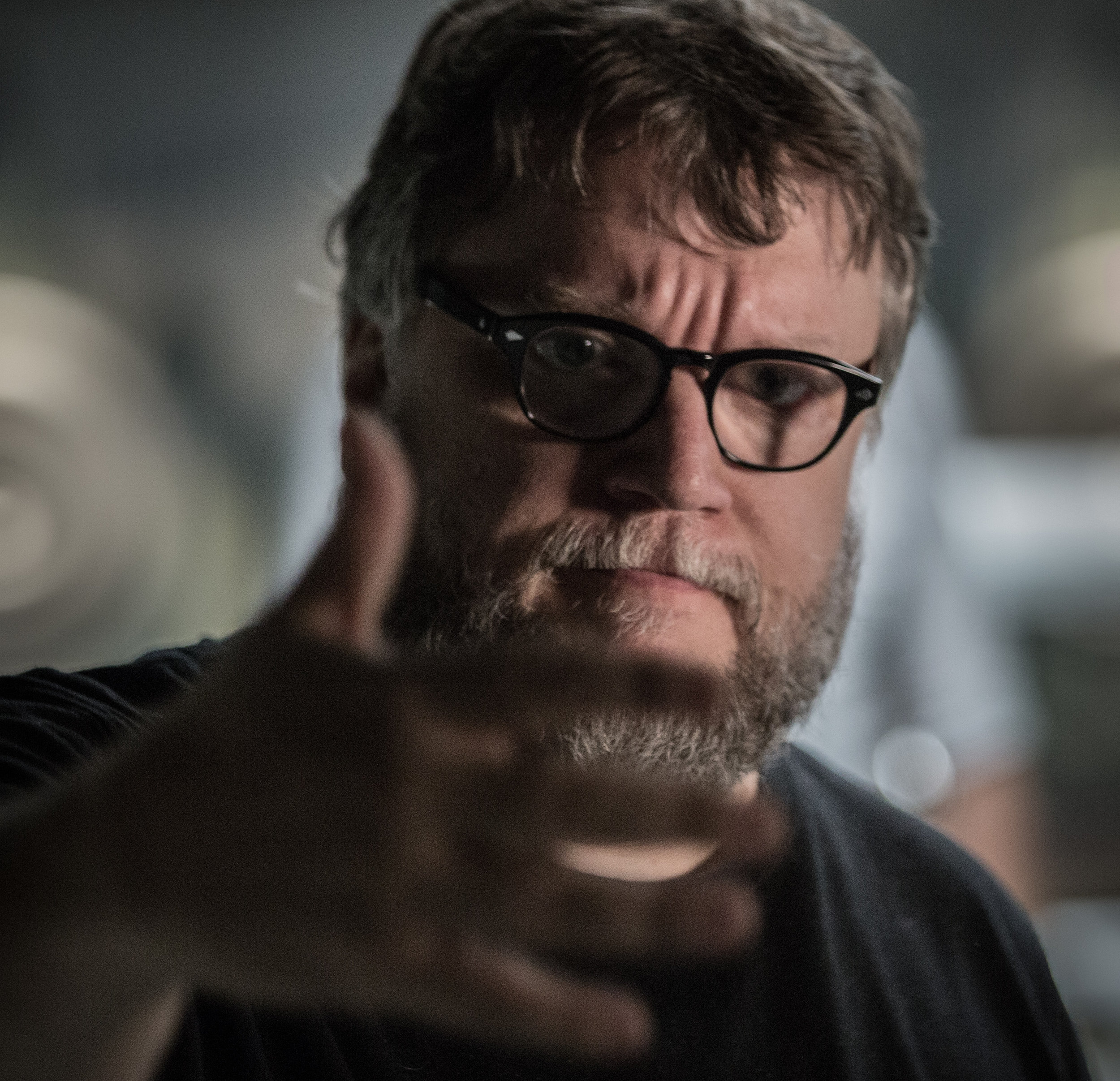 "Guillermo del Toro on the set of ""The Shape of Water"" –Photo by Kerry Hayes © 2017. Courtesy of Twentieth Century Fox."