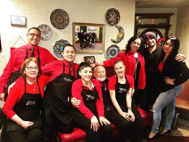 Staff at our restaurant showing support for #wearRedDay! ❤️❤️❤️ I love them! 🥰🥰🥰 #NoMoreBadDays #b