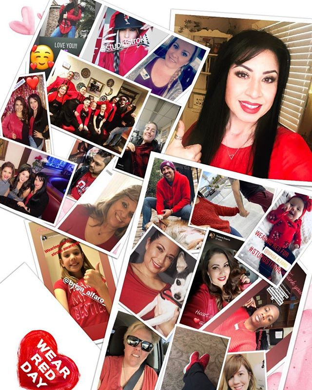Thank you to all that supported #WearRedDay for heart and Stroke awareness by wearing red, sharing a post, commenting or liking. You guys rock! 🥰🥰🥰 #NoMoreBadDays #b  • • • #strokeawareness #goredforwomen #stroke #heartattack #February1 #raiseawareness #iegored #americanheartassociation #americanstrokeassociation #StupidStroke