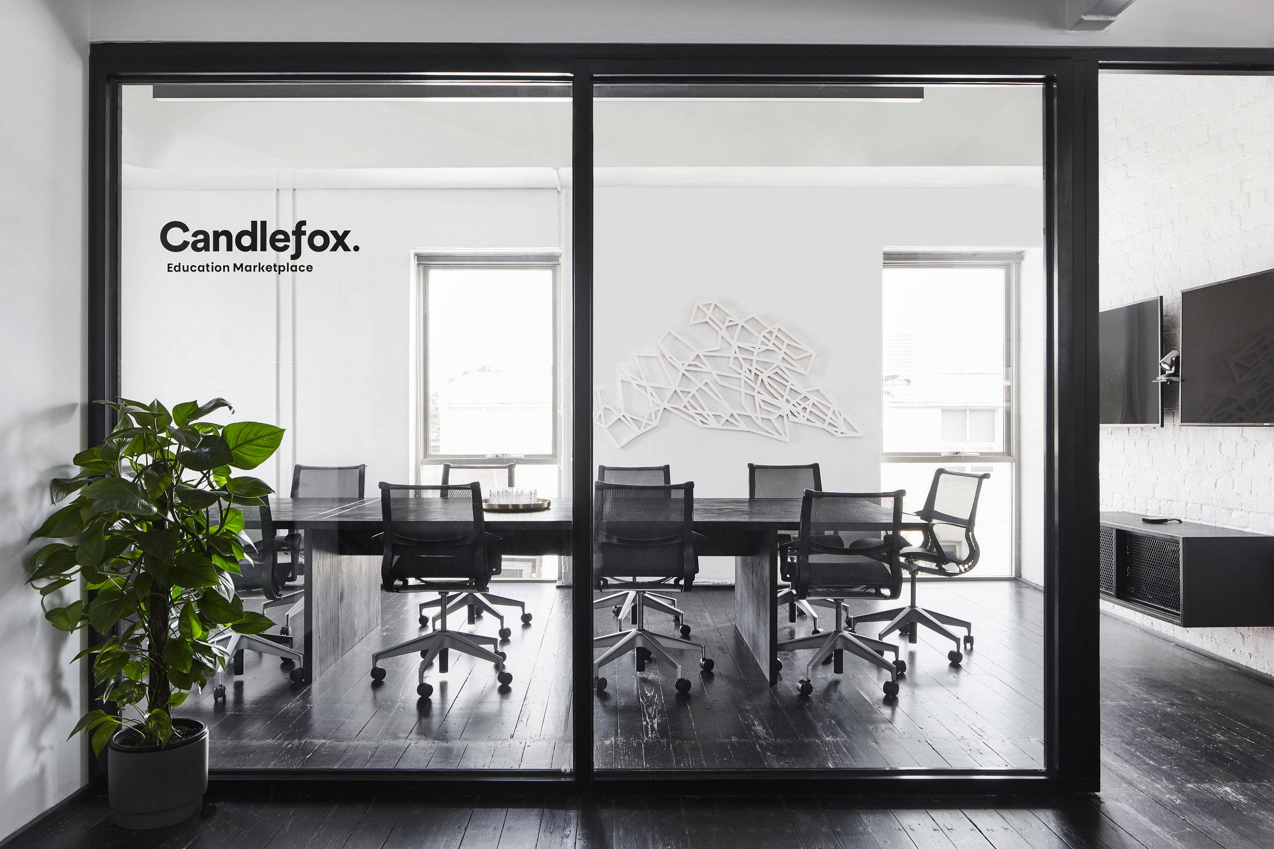 Candlefox Head Office Project  - the right palette, artwork and technology placement make for a seamlessly productive workplace.