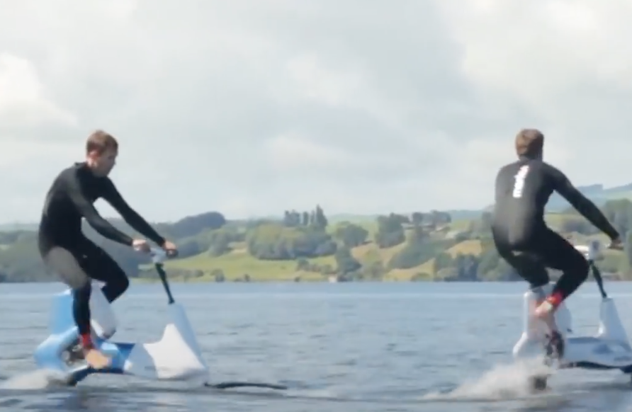 Water bike that pedals on the waves