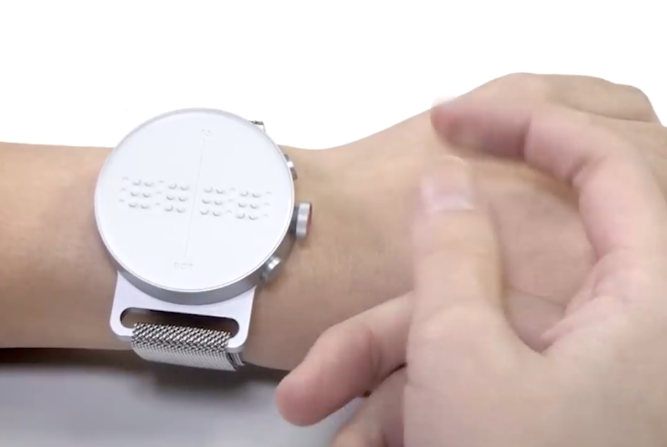 Braille watch for visually impaired