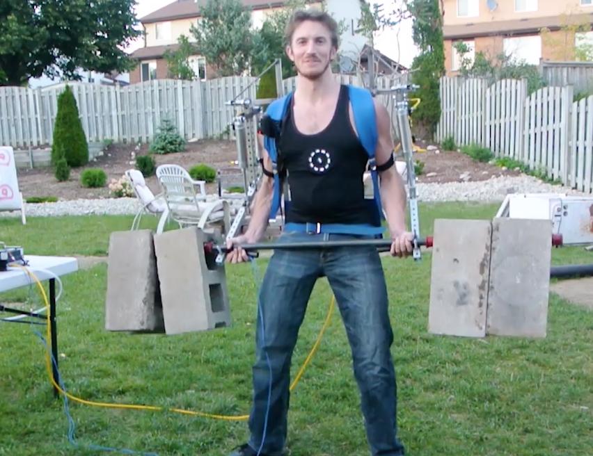 Creating an exoskeleton to do superhuman feats