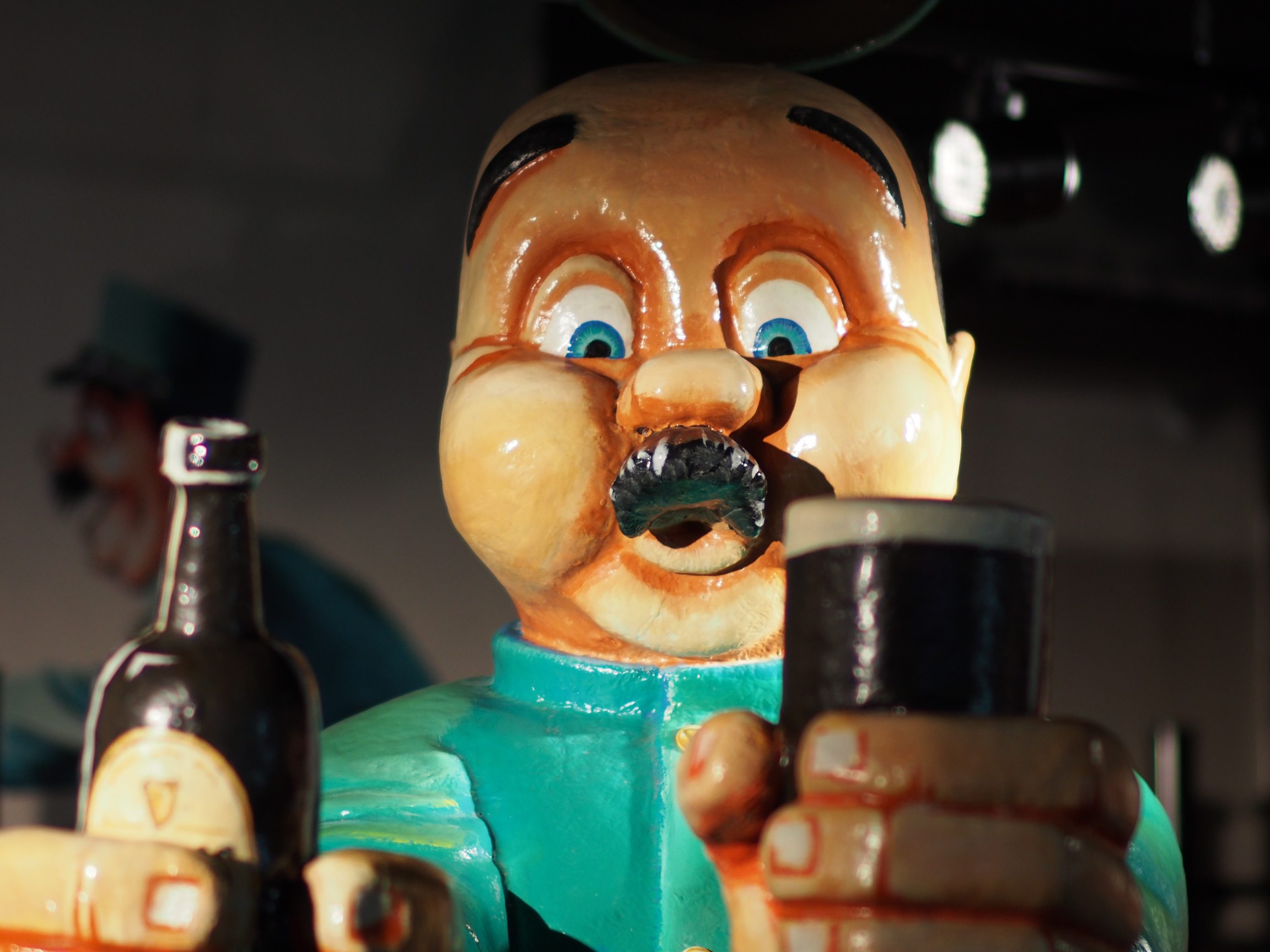 An excited chap I met at the Guinness Factory Storehouse in Dublin.