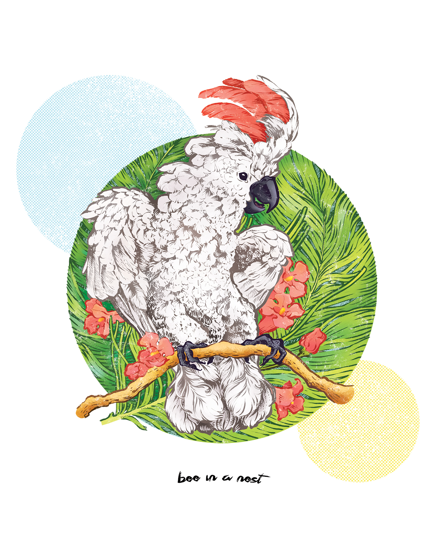 Questo pappagallo mi mette di buon umore. - Avevo voglia di creare qualcosa di colorato e tropicale come amuleto porta fortuna per un po' di bel tempo.Nonostante mio papà ieri sera mi ha comunicato l'imminente neve a bassa quota, io sono ancora molto fiduciosa.