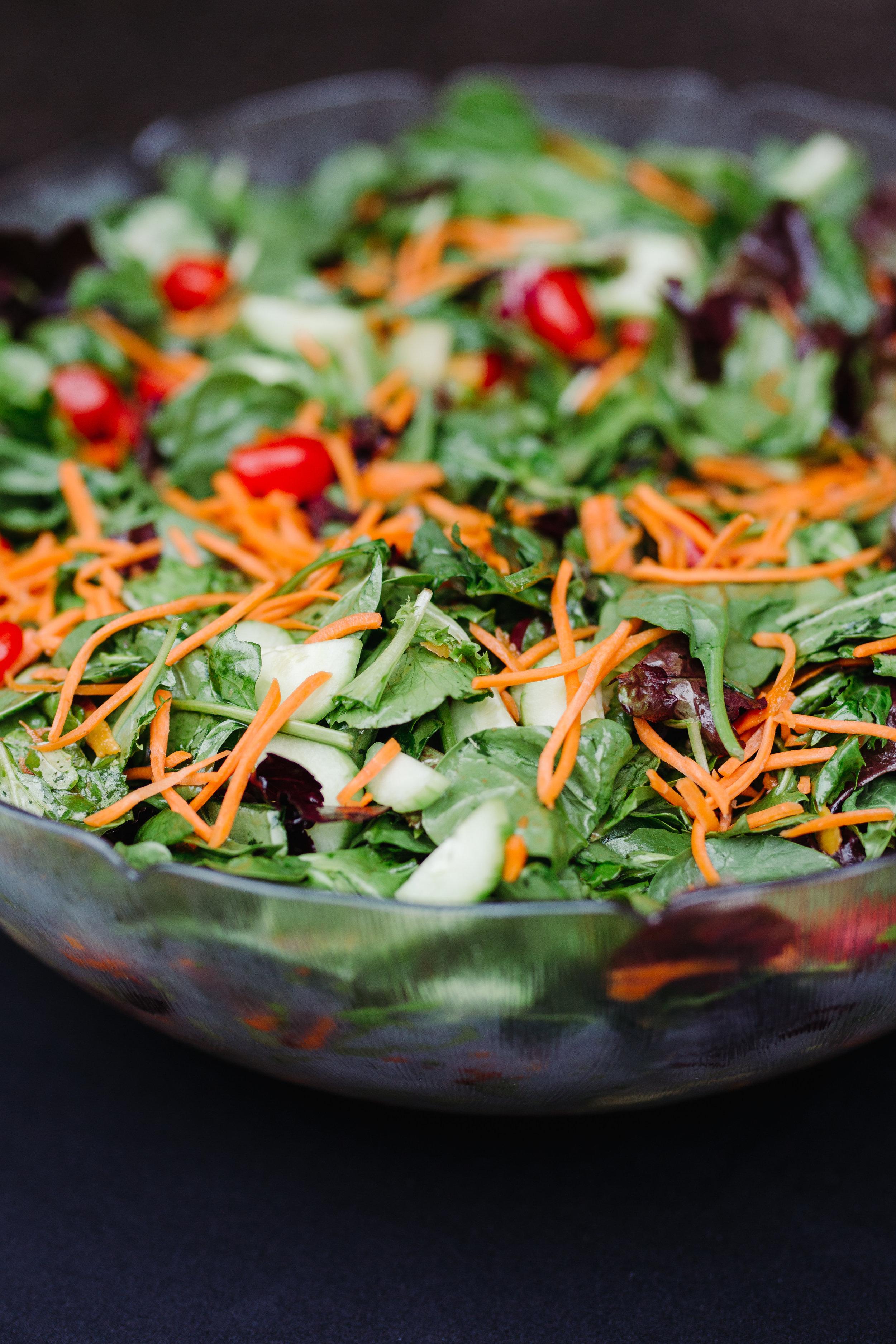 Market fresh salad with citrus vinaigrette dressing