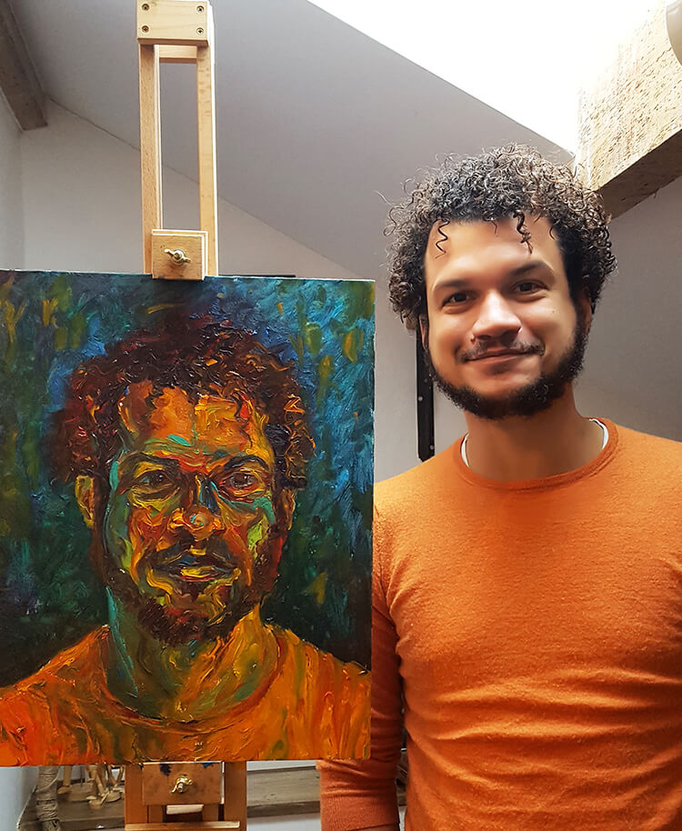 Renato and our portrait
