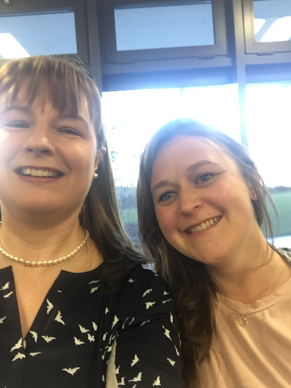 Me and Roisin at Diabetes Ireland's head office in 2017