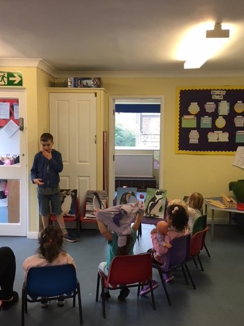 Tyler delivering a Future Friend Talk to a Nursery School
