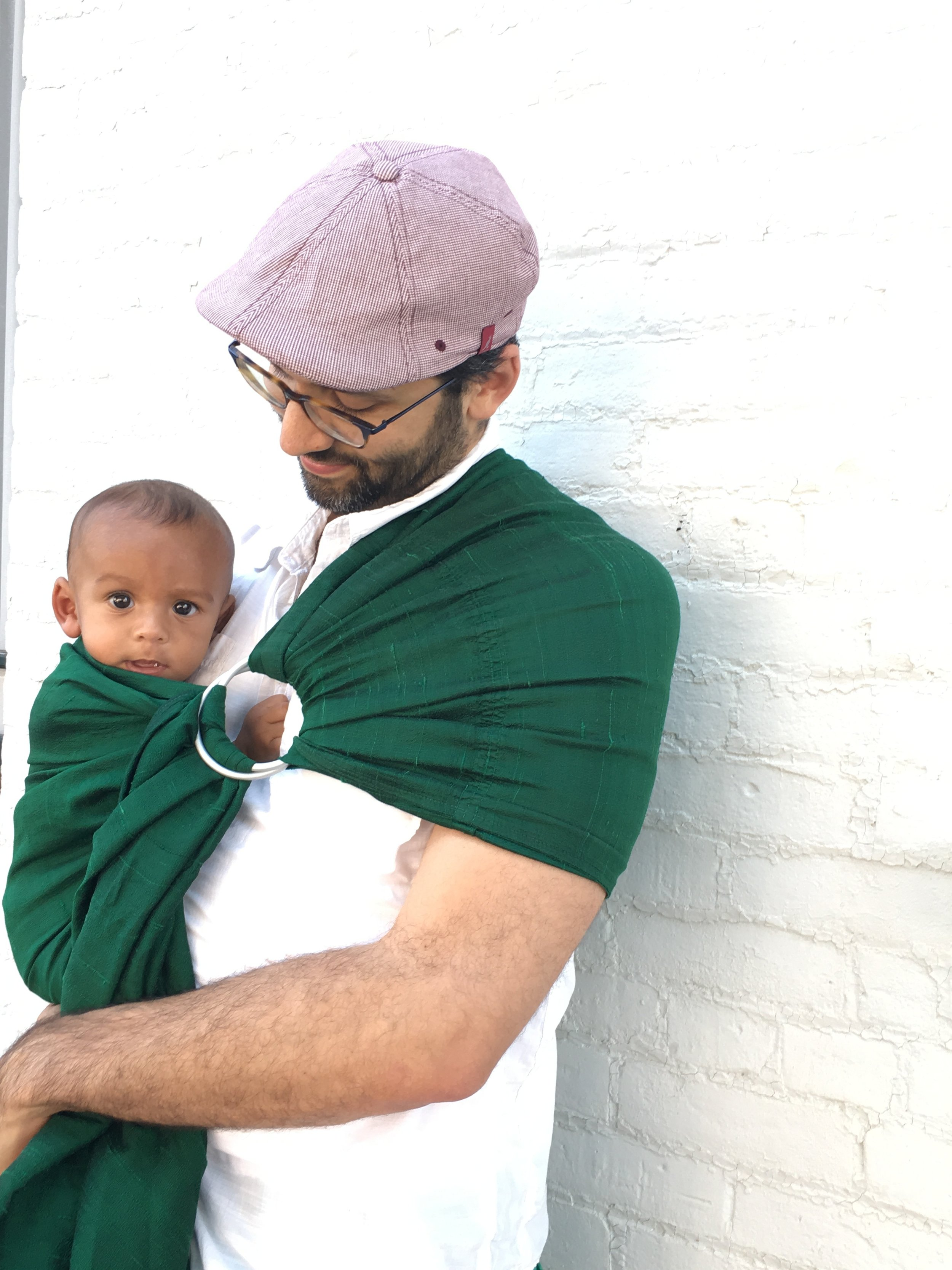 Baby G with Papi in Upstate New York. Before you call me out, I KNOW that Baby G is still an infant here. But I ADORE this picture and you will see how this carrier transitions into toddlerhood if you continue reading.