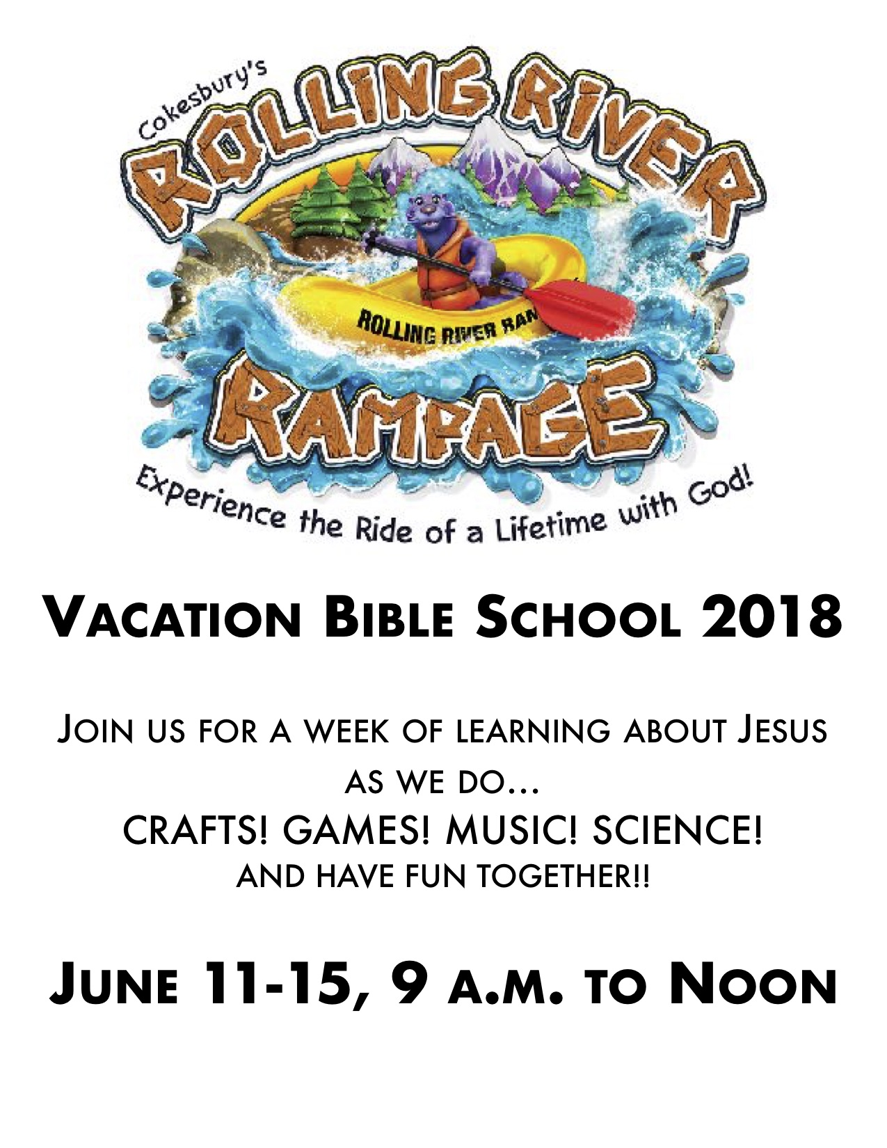 What is Vacation Bible School? - In the summertime, when the weather is hot, sometimes parents need kids to be able to get out of the house and do something. This is an opportunity for kids to come to a safe environment, to make new friends, and to hear about Jesus. We have fun and games, but we also have Bible lessons and explore the world of science!For more information, feel free to contact the church office or click here.