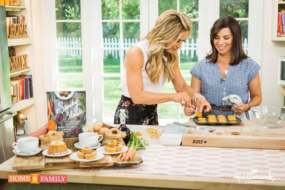 One of Missy's guest appearances on  Hallmark's Home & Family Show  -  sweet potato donut bites featured here