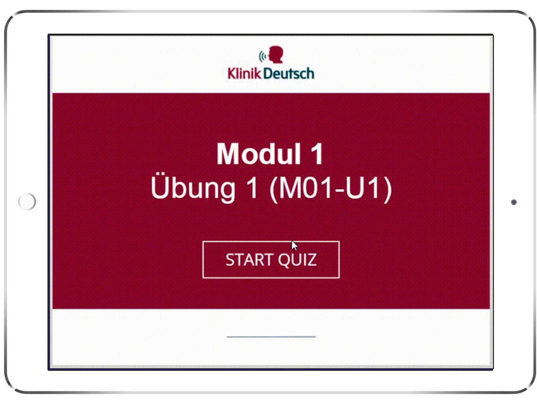 Copy of Copy of Copy of Internal e-Learning of Deutsche Klinik Quiz Example