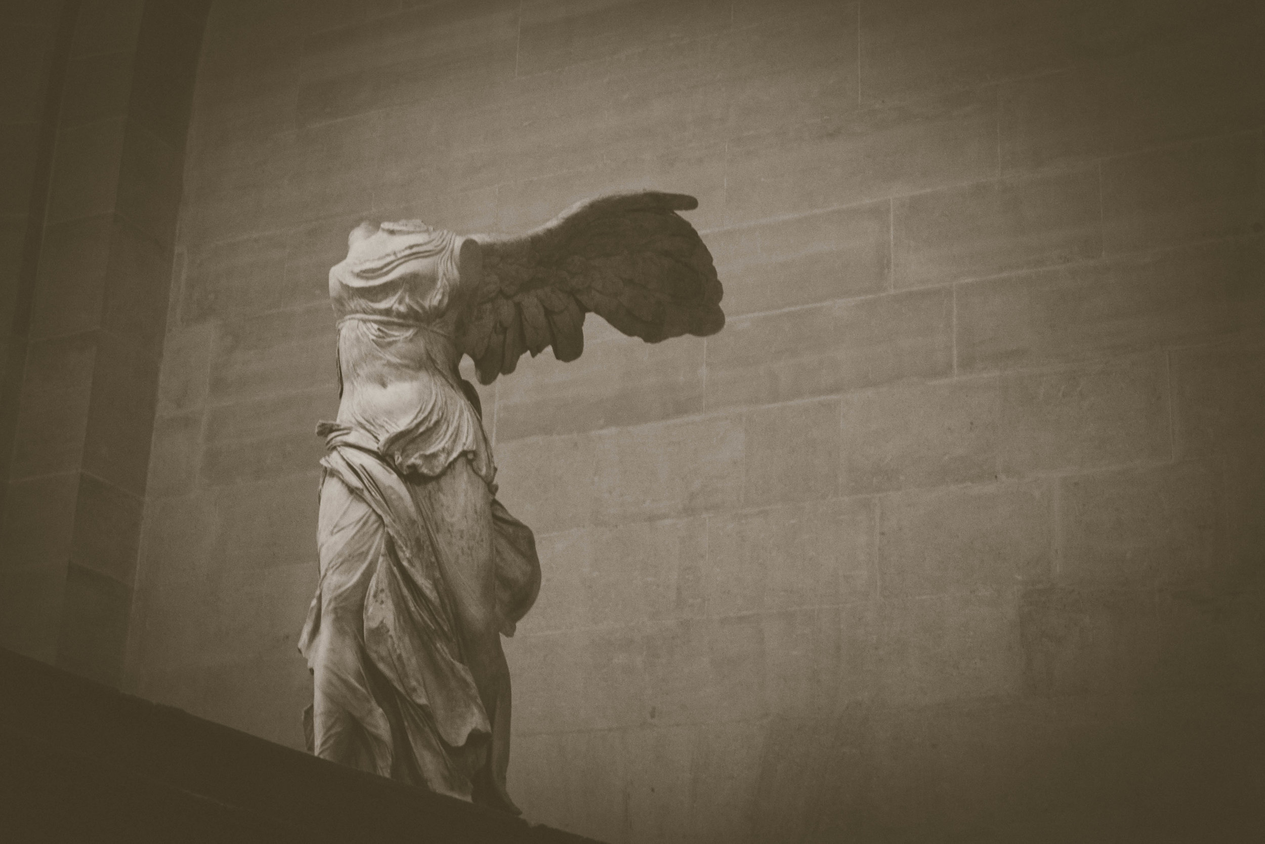 NIKE - The Winged Victory of Samothrace.  lOUVRE. PARIS. FRANCE.