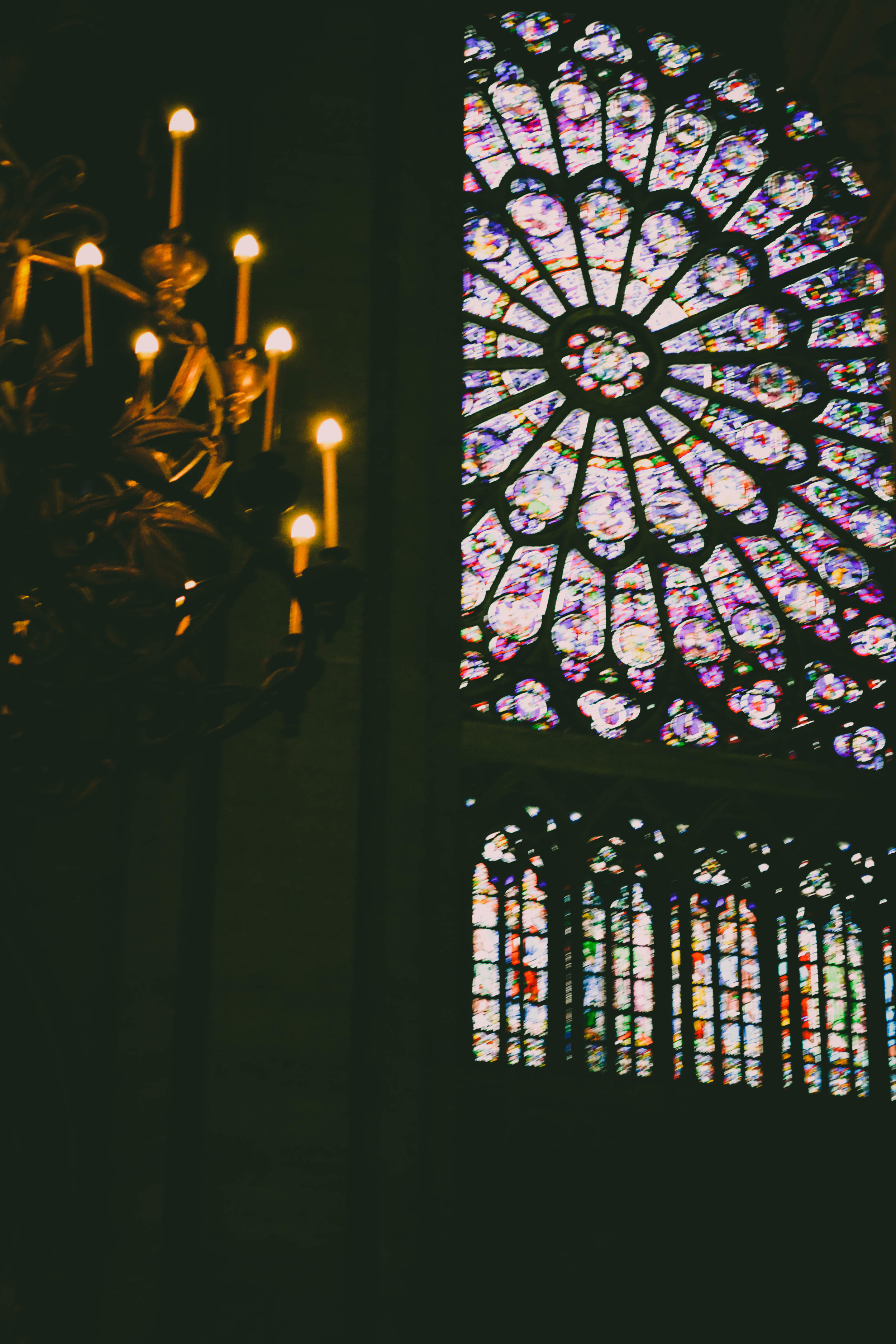 Notre-dame catedral from inside.  paris. france.