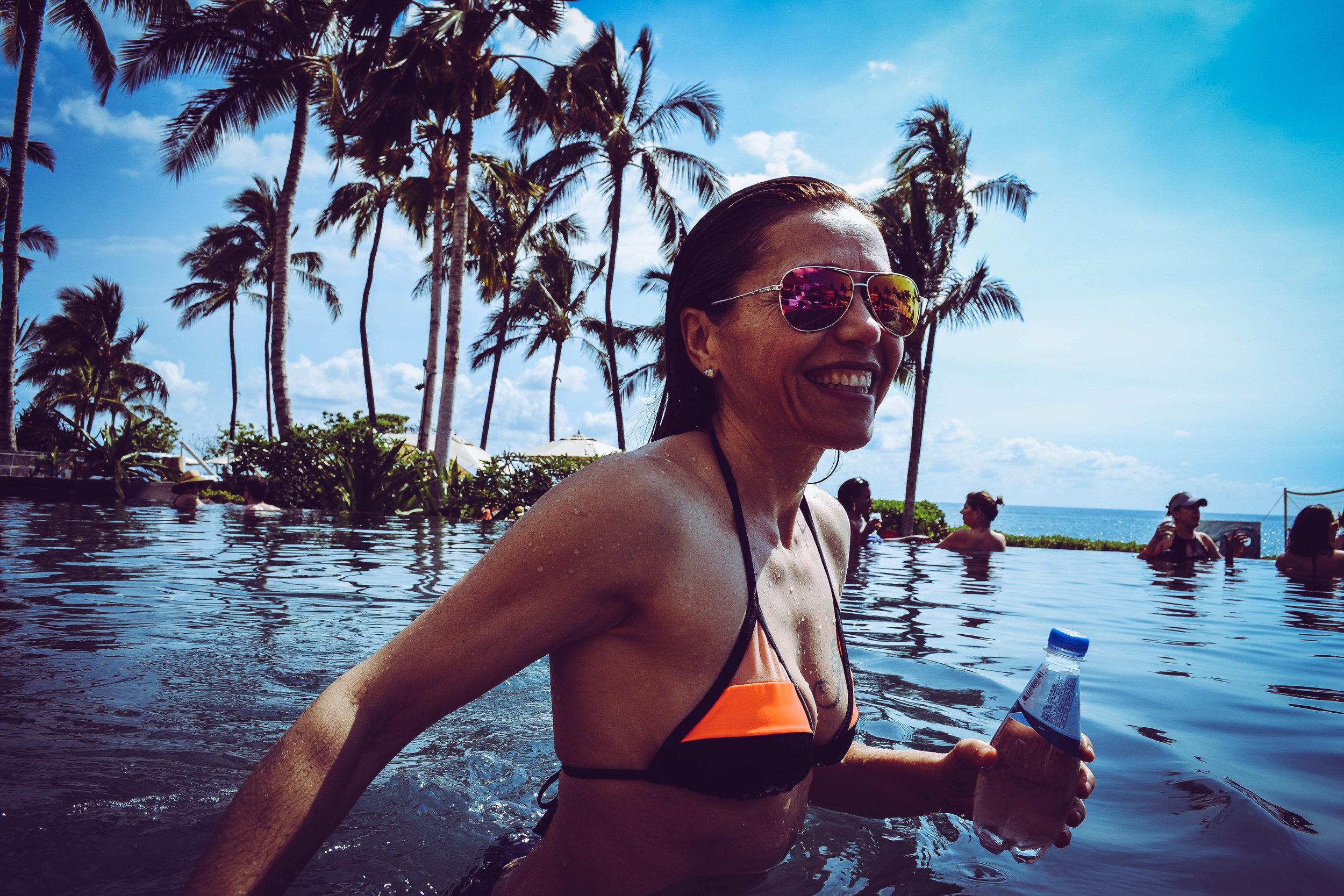 pool party.  oahu. hawaii. usa.