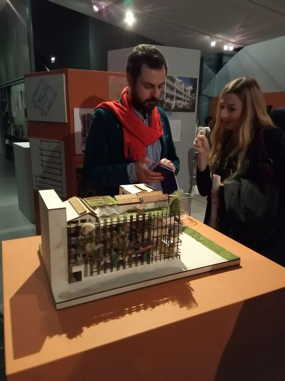 De maquette van De Warren bij ARCAM, (c) Natrufied Architecture