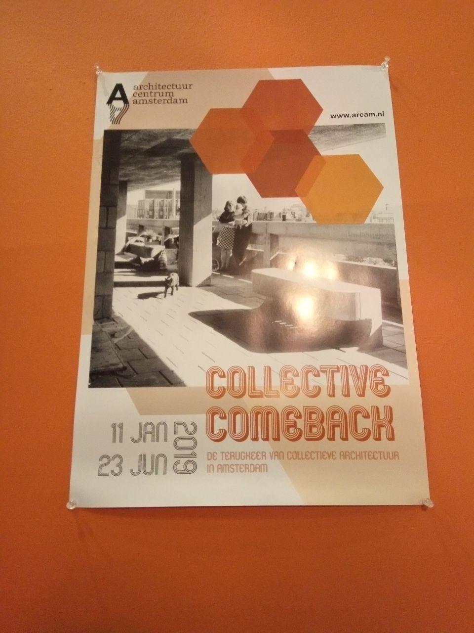 De poster van de expositie met De Weesperflat hier op afgebeeld, (c) Hertzberger