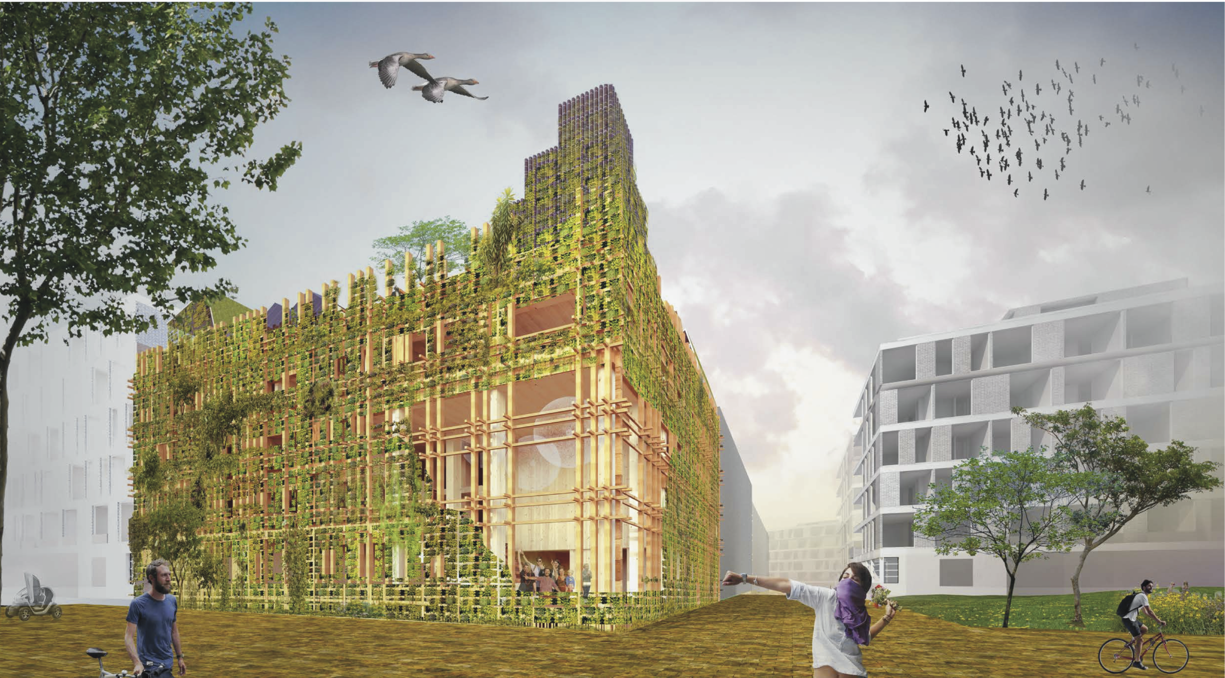 Een groene echte jungle in de urban jungle (c) Natrufied Architecture