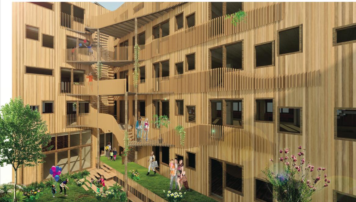 Ook de achtergevel kreeg na feedback van de Commissie Welstand nog een kwaliteitsimpuls (c) Natrufied Architecture
