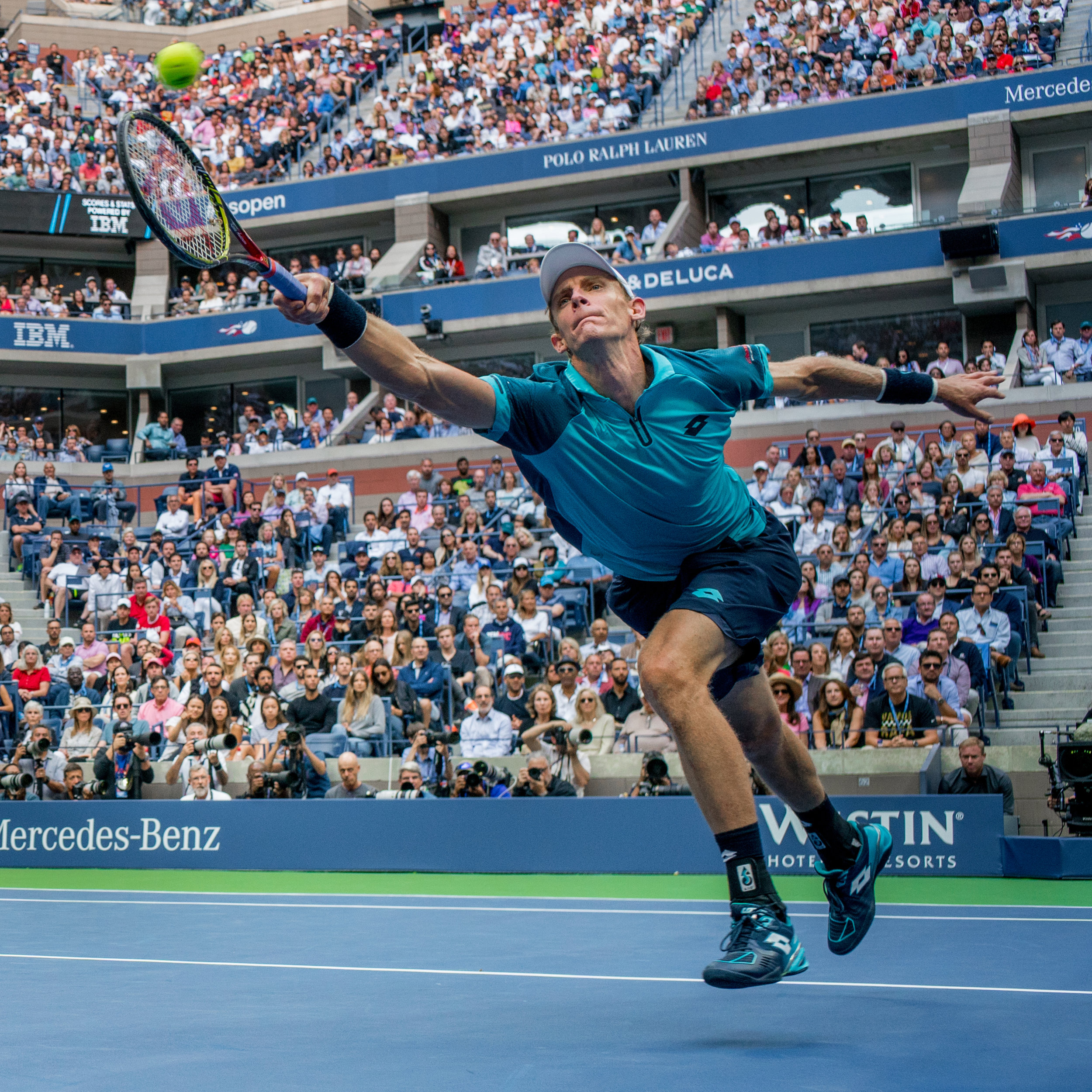 Kevin Anderson, 2017 U.S.Open final, Queens, New York.  Sony A9, Leica M 35mm f1.4 Summilux