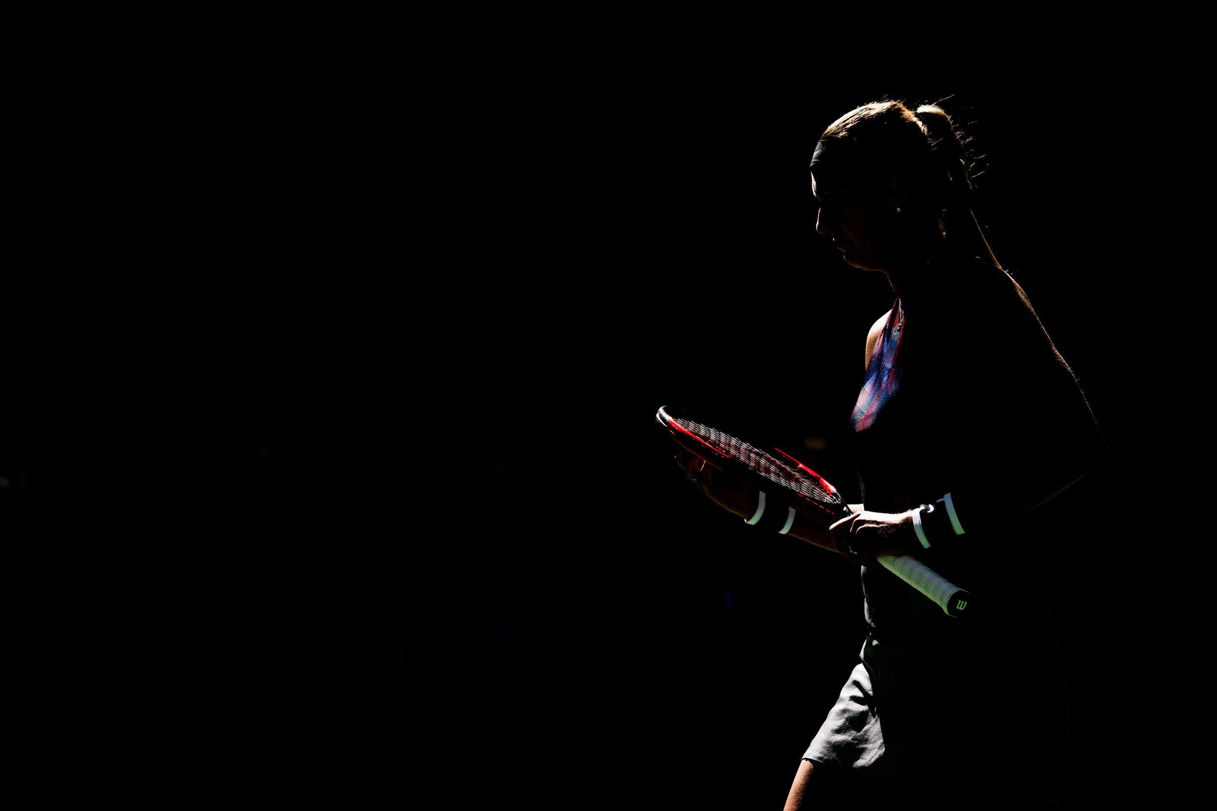 Petra Kvitova, 2017 U.S.Open. Queens, New York.  Sony A9, Sony 100-400mm f4.5-5.6 GM OSS