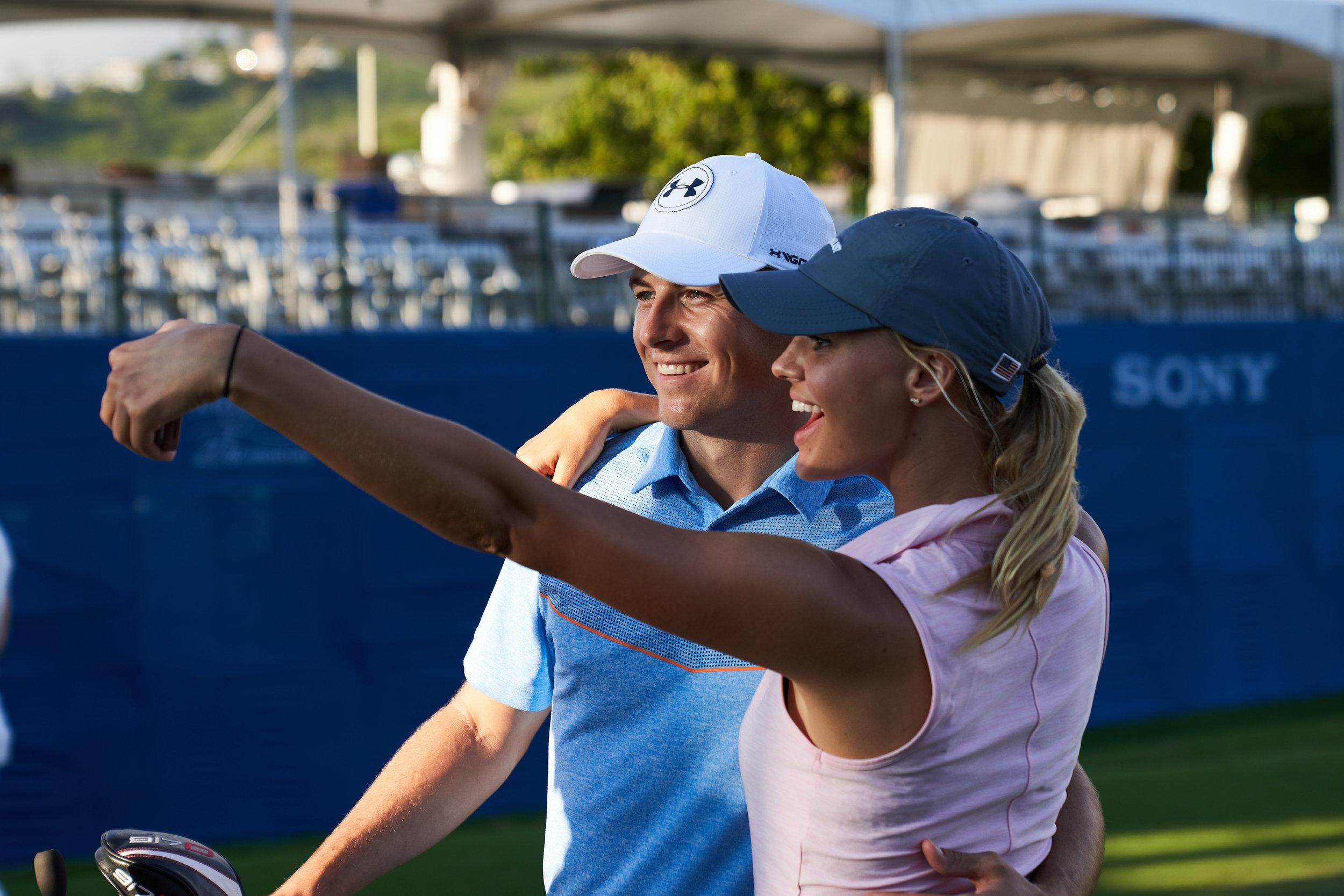 Jordan Spieth and Kelly Rohrbach,  18th hole.  Sony A7rIII, Sony 24-70mm f2.8 G Master
