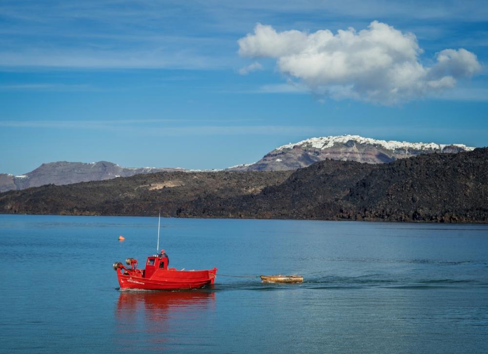 Fisherman, Santorini.  Sony A9, Leica 75mm f1.4 Summilux
