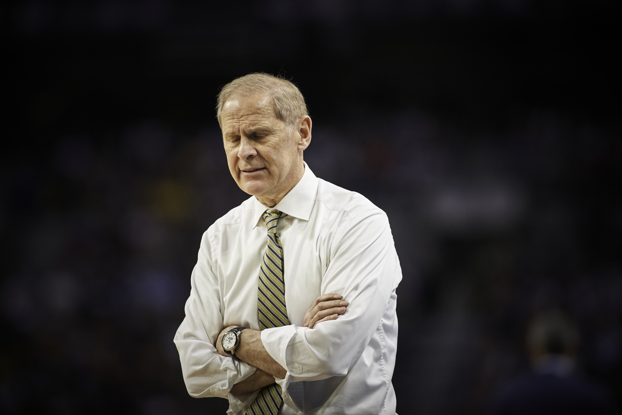 John Beilein is not happy.   Sony A9, Sony 70-200mm f2.8 GM