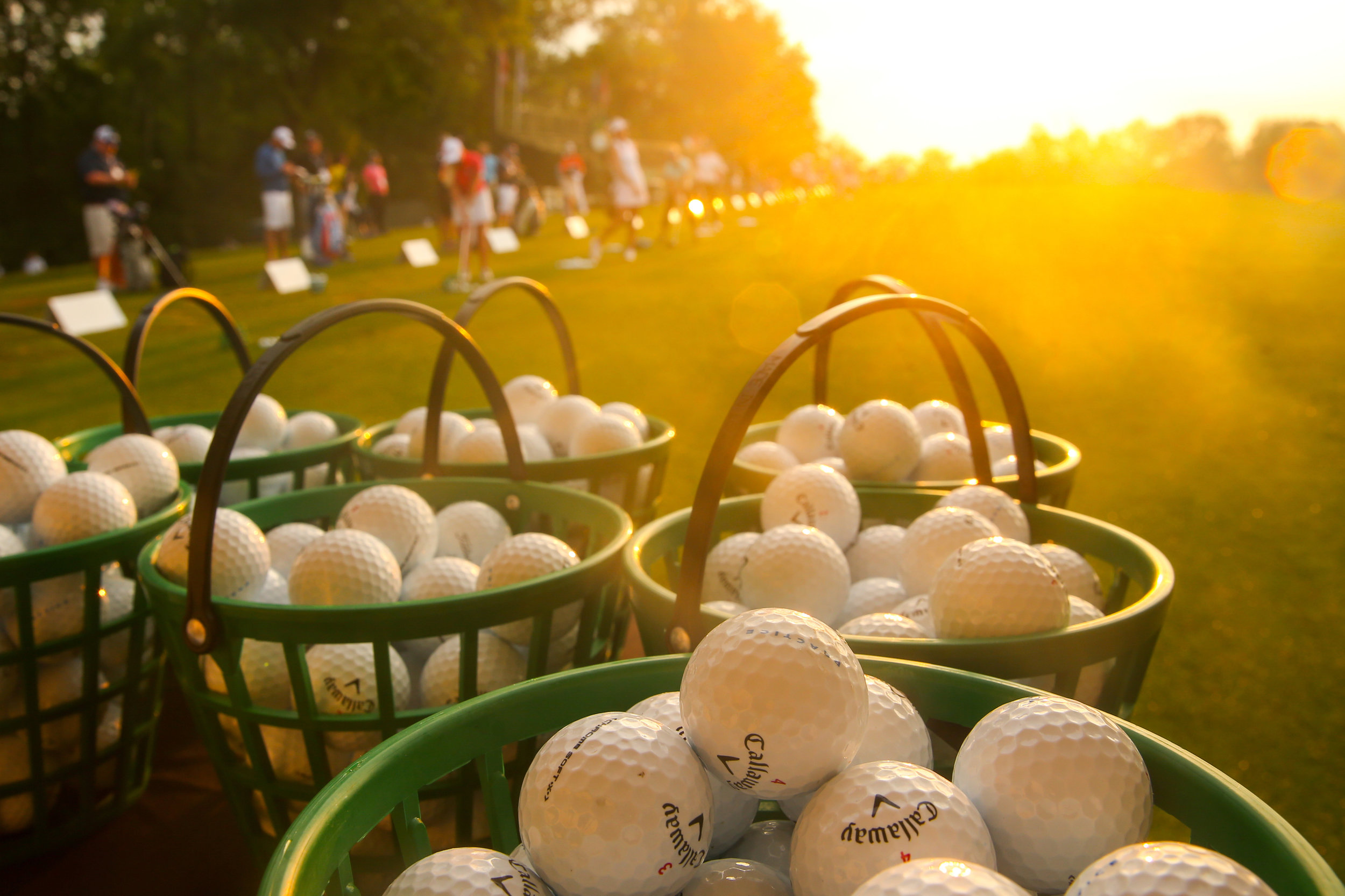 Driving range, 2017 U.S. Women's Open Championship. .  Trump Bedminster Golf Club, Bedminster, New Jersey. Canon 1DX, Canon EF 24-70mm f2.8L