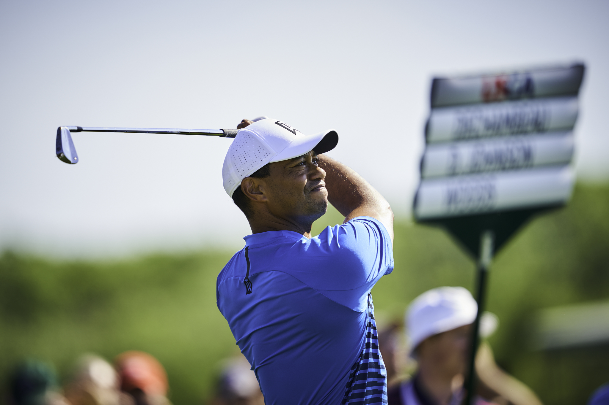 Tiger Woods during a Tuesday practice round.   Sony A9, Sony 400mm f2.8 GM-OSS. ©USGA/Darren Carroll