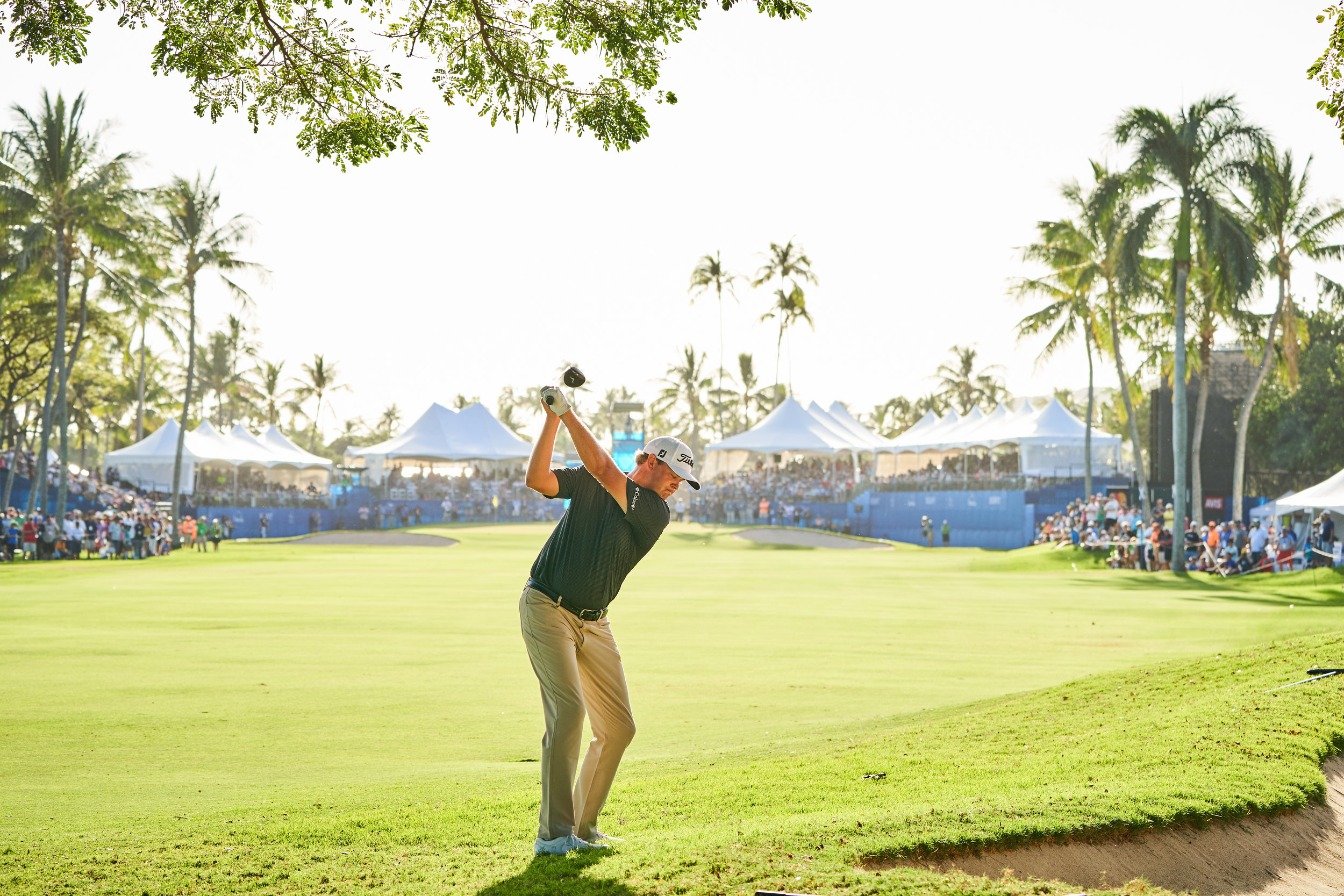 Patton Kizzire, 2018 Sony Open in Hawaii.  Sony A9, Sony 100-400mm f4.5-5.6 GM OSS.