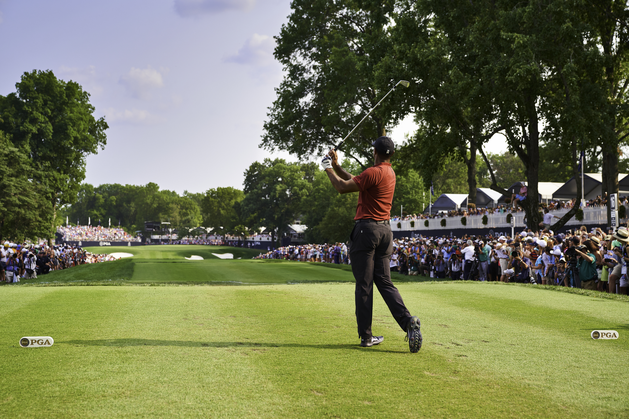 Tiger Woods, 2018 PGA Championship.  Sony A7rIII, Sony 24-70mm f2.8 GM.