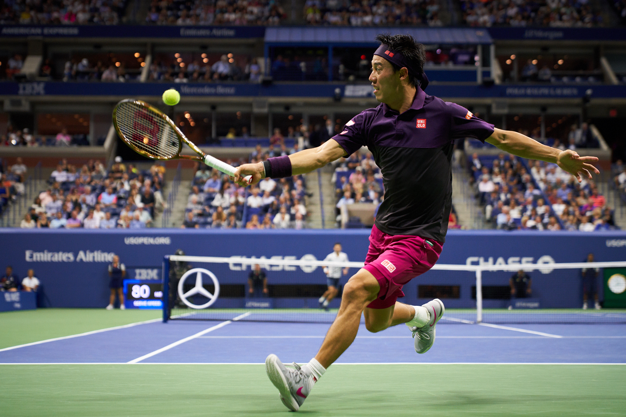 Kei Nishikori, Arthur Ashe Stadium, Men's Singles Semifinal  Sony A7rIII, Sony 24-70mm f2.8 GM