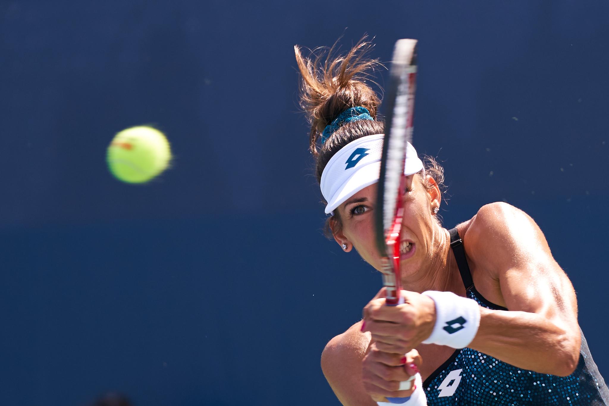 Aliona Bolsova, Court 9, Women's Singles Qualifying Round 4  Sony A9, Sony 70-200mm f2.8 GM-OSS