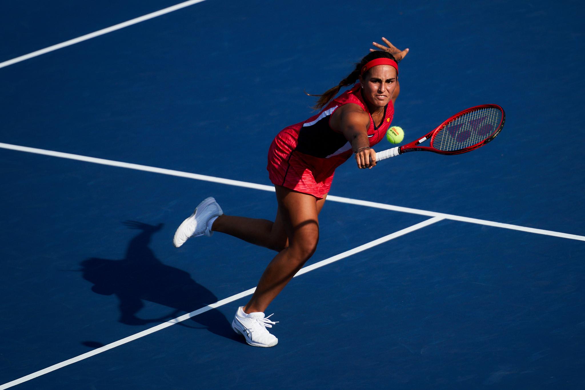 Monica Puig, Court 8, 1st Round Women's Singles  Sony A9, Sony 70-200mm f2.8 GM-OSS, Sony FE 1.4x teleconverter