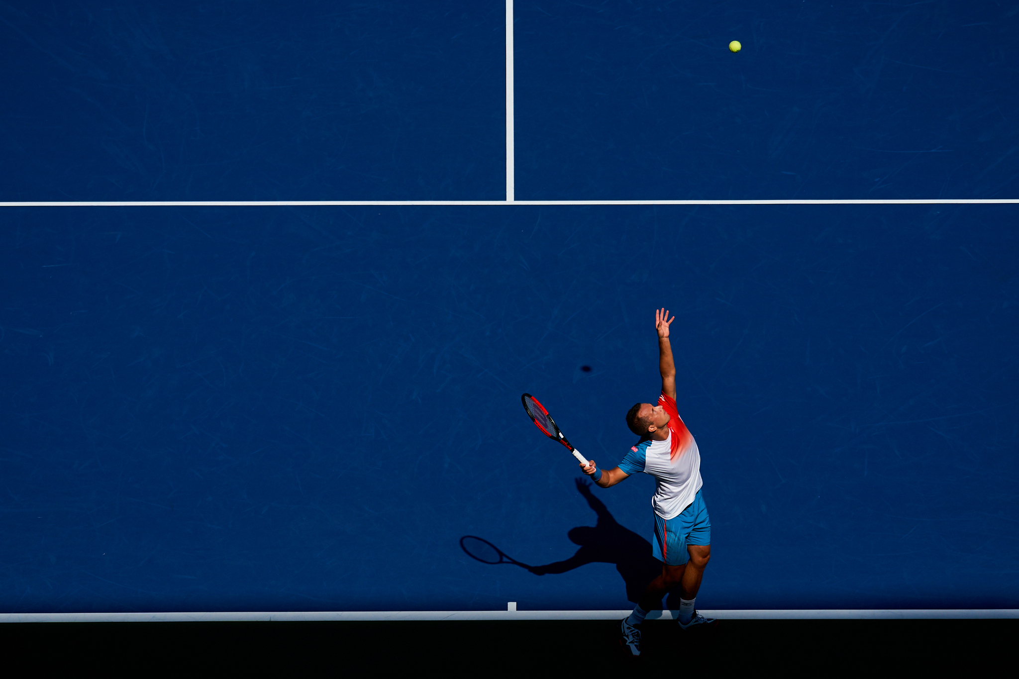 Philipp Kohlschreiber, Louis Armstrong Stadium, 4th round Men's Singles  Sony A9, Sony 100-400mm f4.5-5.6 GM-OSS