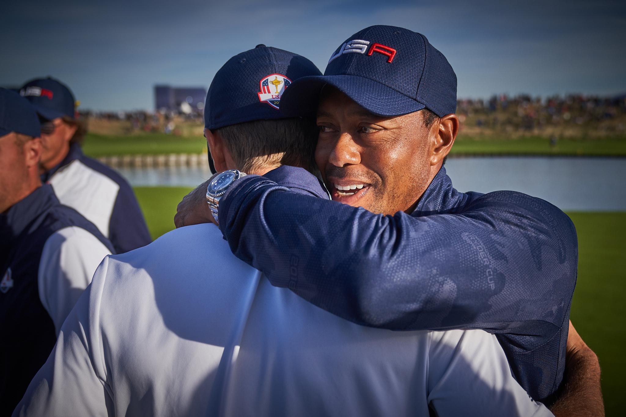 Tiger Woods and Jordan Spieth, Saturday Foursomes  Sony A7rIII, Sony 24-70mm f2.8 GM